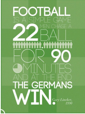 Gary Lineker's (in)famous football (soccer) quote