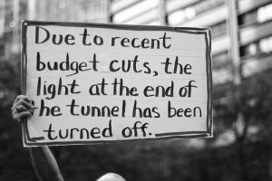black and white, funny, joke, light at the end of the tunnel ...