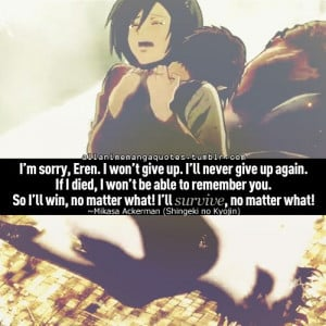 Attack on Titan ¦ Mikasa & Eren ): I cried like a wimp.