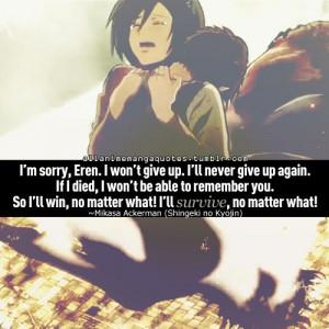 Attack on Titan ¦ Mikasa & Eren ): I cried like a wimp.