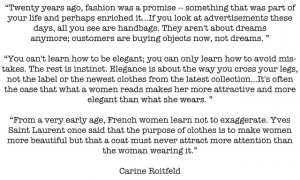 This Is Glamorous   Thought for the day : Carine Roitfeld