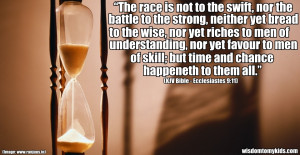Biblical quote about chance and time.