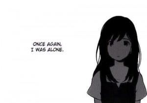 alone, anime girl, black n white, cry, darkness, depress, girl, japan ...