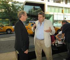 Arnaud Desplechin with former New York Film Festival Director Richard