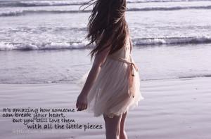 alone, broken heart, broken pieces, dress, girl, heart, heartbreak ...