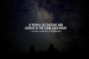 Stargazing at Night …