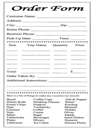 cake ball order form templates free | bakery order form template free ...