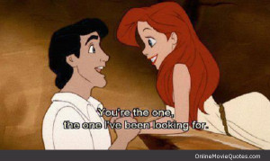Disney Movie Love Quotes Little mermaid movie