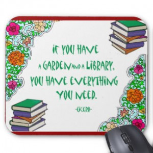 Cicero's quote on libraries mouse mat by friendlyspirit