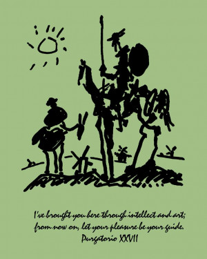 Quotes Windmills Art by Picasso Showing Don Quixote And Sancho Quote ...