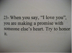keep your promises.