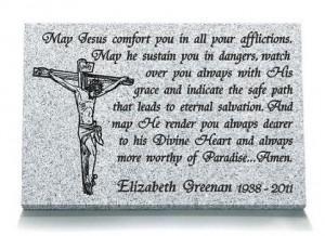 memorial colour black granite 18 x 12 16 x 10 prayer to jesus memorial ...