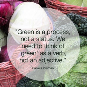 ... green as a verb not an adjective daniel goleman # quotes # sustainable