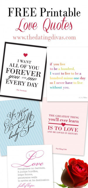 ... love quotes- can't wait to frame some of these free printables