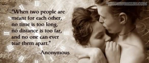 When Two People Are Meant For Each Other, No Time Is Too Long.