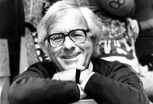 Science fiction writer Ray Bradbury in Feb. 1982. He passed away ...