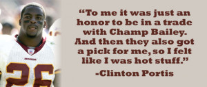 Aug 22, 2012 Clinton Portis' retirement press conference Thursday with ...