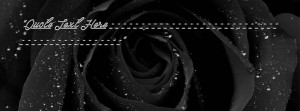 Black Rose Facebook Name Cover Quotes Name Covers