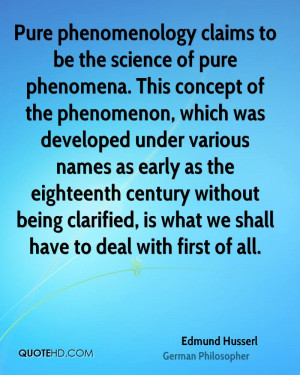 Edmund Husserl Science Quotes