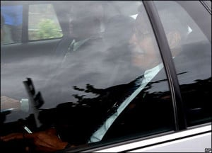 PM Laisenia Qarase leaves Government House in Wellington New Zealand