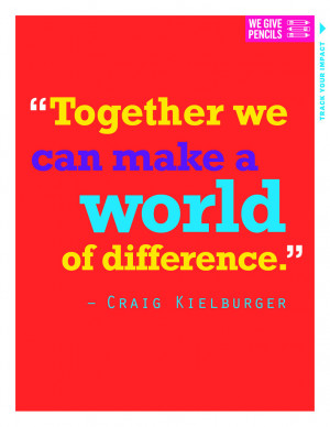 Volunteer Quotes By Famous People A world of difference - quotes