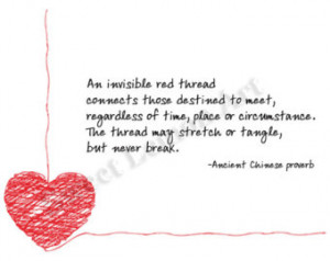 An invisible red thread -- adoption proverb ...