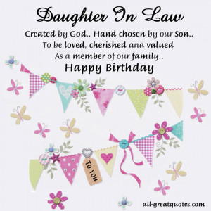 Daughter-In-Law – Created by God.. Hand chosen by our Son.. To be ...