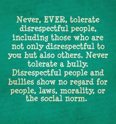 Disrespectful people More