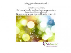 Making your relationship work.... https://www.facebook.com/WeConcile ...
