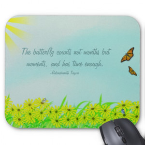 Precious Moments Butterflies Quote Mouse Pads