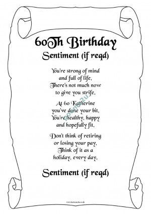Happy 60th Birthday Poems