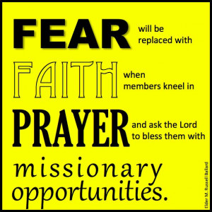 ... missionary opportunities.