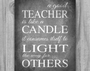 Teacher Appreciation Gift Quote Pri nt Typography Inpirational Art ...