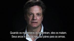 Colin Firth faz apelo ao ministro da Justi a do Brasil e ao p blico