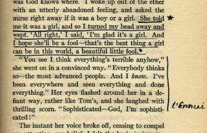 Sylvia Plath Annotates Her Copy of The Great Gatsby