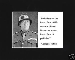 George-S-Patton-liberal-Quote-Black-Large-Matted-Photo-Picture-tf2