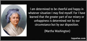 Am Determined To Be Cheerful