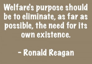 ronald reagan, quotes, sayings, about welfare