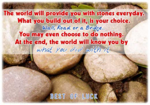 Nice best of luck quotes sayings pics for facebook