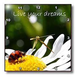 inspirational ladybug 10x10 wall clock see more inspirational clocks ...
