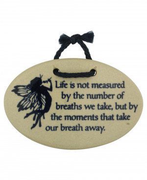 Inspirational Wall Plaques: Life Moments Quote (Usa):
