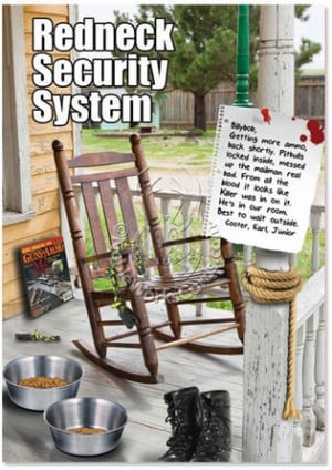 Redneck Security System Humorous Birthday Greeting Card