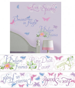 Disney Fairies Phrases Wall Stickers - Wall Sticker Outlet