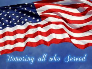 Tuesday, November 11th, 2014 Happy Veteran's Day!