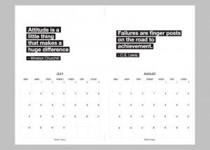 2014 Printable Calendar. Inspirational Quotes. 2 Months per sheet.