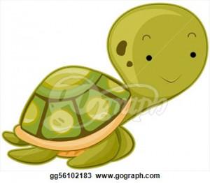 Cutely Cartoon Turtle Cute Sea