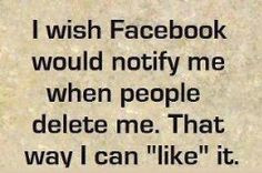 Sometimes getting UNFRIENDED on FACEBOOK is MAGICAL… It's like the ...