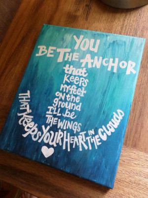 Anchor Quote Painted Canvas 8x10in by MegLikesToPaint on Etsy, $29.00