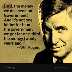 will rogers govt spending