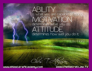 Related Pictures attitude lou holtz inspirational picture quotes ...